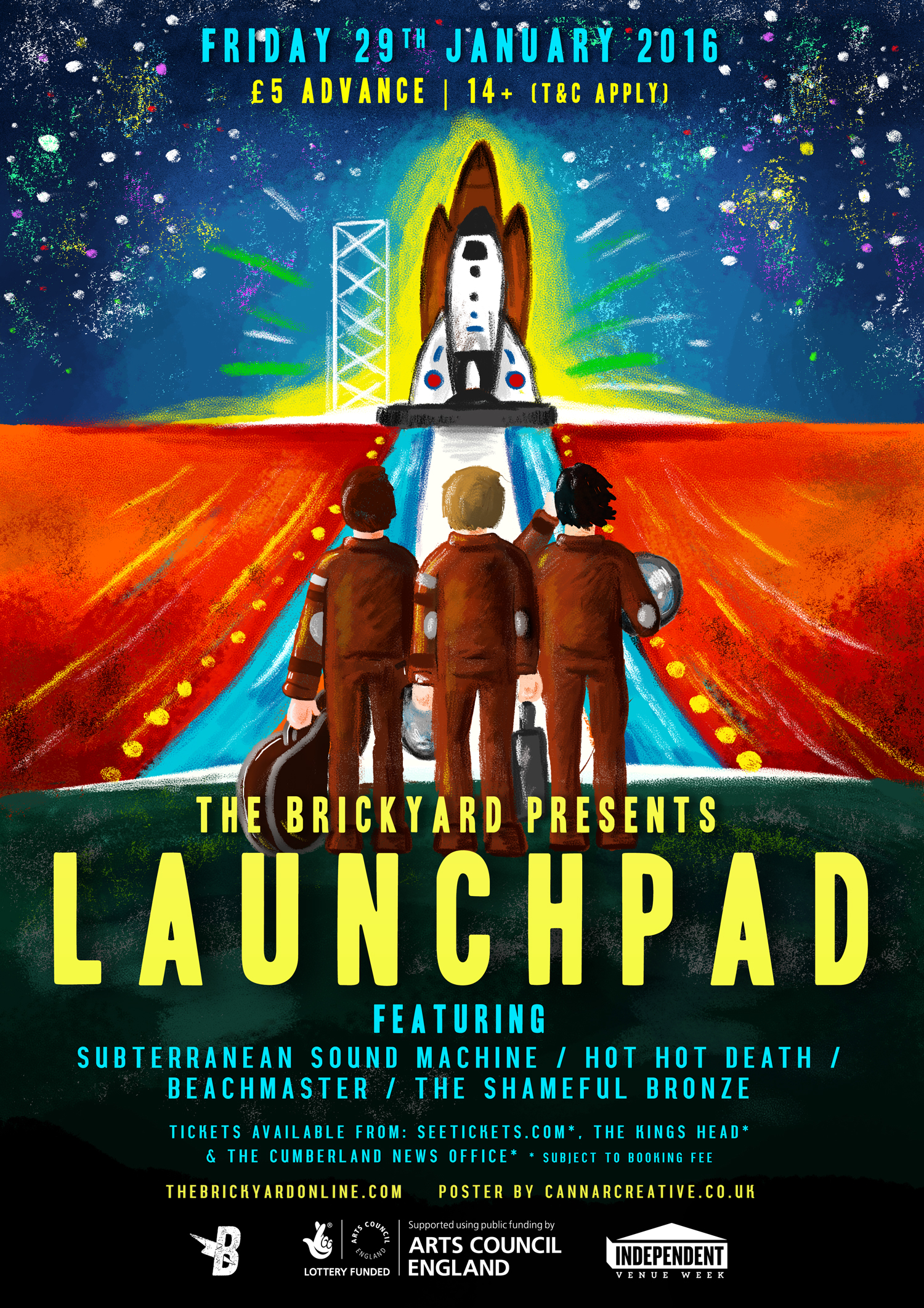 The Brickyard Launchpad Illustration Poster